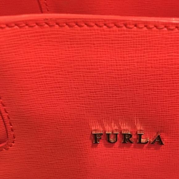 Furla Handbags - Orange Furla Leather Tote Bag
